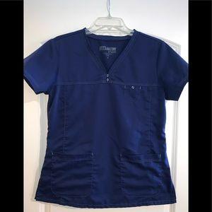 Grey's Anatomy Scrub Top - Navy Blue Size M